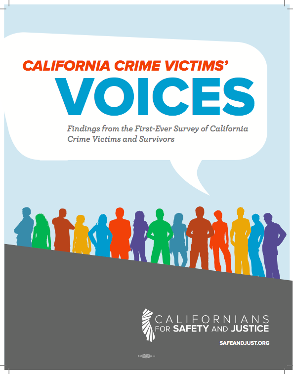 CA Crime Victims Report Cover | Californians for Safety and Justice